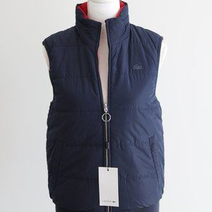 Lacoste Double- side warm vest with hood 🔥 🔥